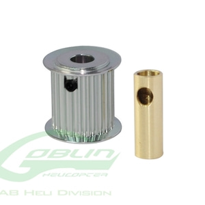 엑스캅터 - Aluminum Motor Pulley 19T (for 6/8mm motor shaft) - Goblin 770/Goblin 700 Competition [H0175-19-S]