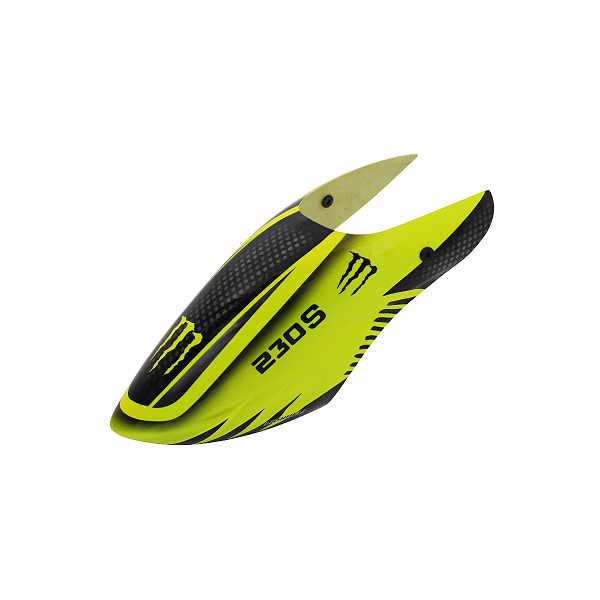 엑스캅터 - 라콘헬리 LIONHELI Fiberglass Canopy-Monster (Black-Yellow) - Blade 230 S 옵션캐본피