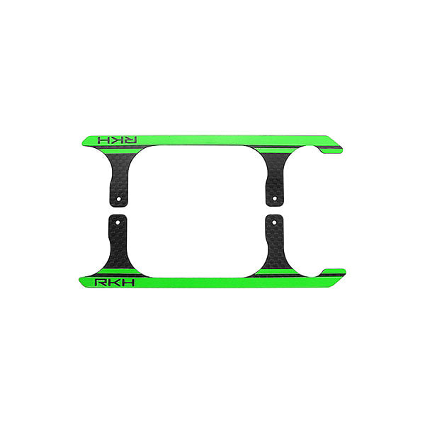 엑스캅터 - 라콘헬리 CNC 3K Pure Carbon Fiber Landing Skid Set (Black-Green) - Blade 230 S 옵션