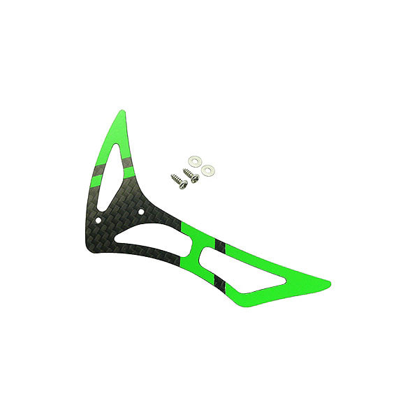 엑스캅터 - 라콘헬리 CNC 3K Pure Carbon Fiber Tail Fin Set (Black-Green) - Blade 230 S 옵션