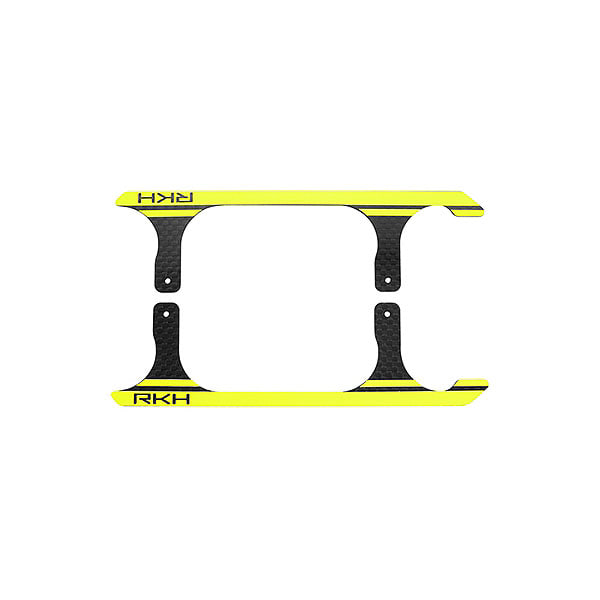 엑스캅터 - 라콘헬리 CNC 3K Pure Carbon Fiber Landing Skid Set (Black-Yellow) - Blade 230 S 옵션
